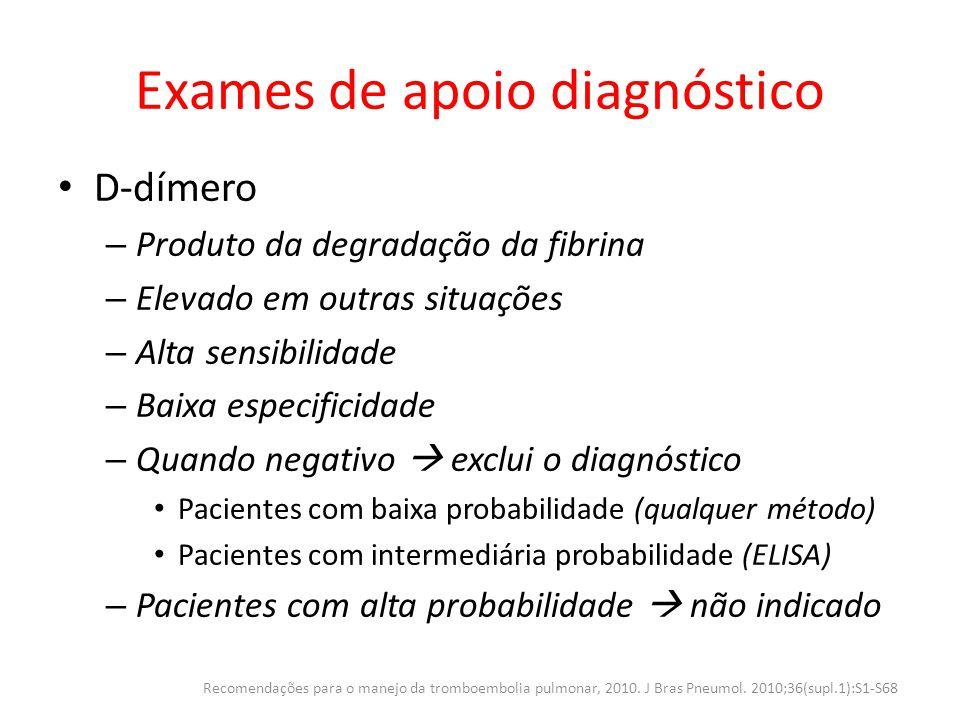 Exames de apoio diagnóstico