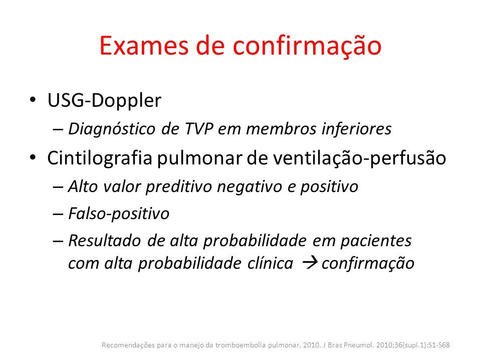 Exames de confirmação USG-Doppler