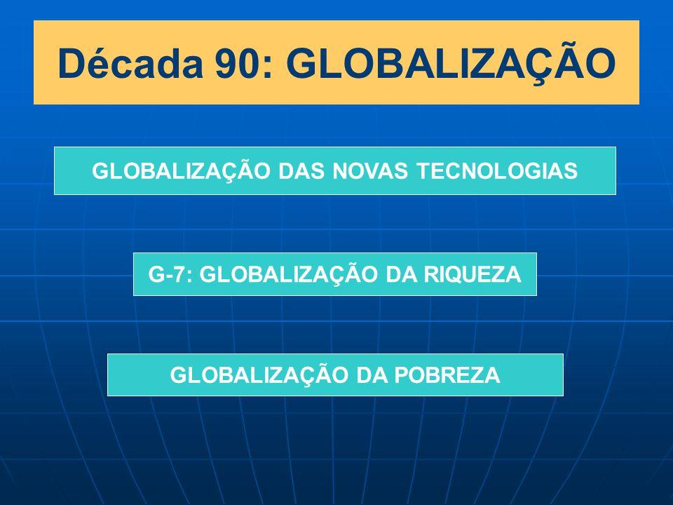 Década 90: GLOBALIZAÇÃO GLOBALIZAÇÃO DAS NOVAS TECNOLOGIAS