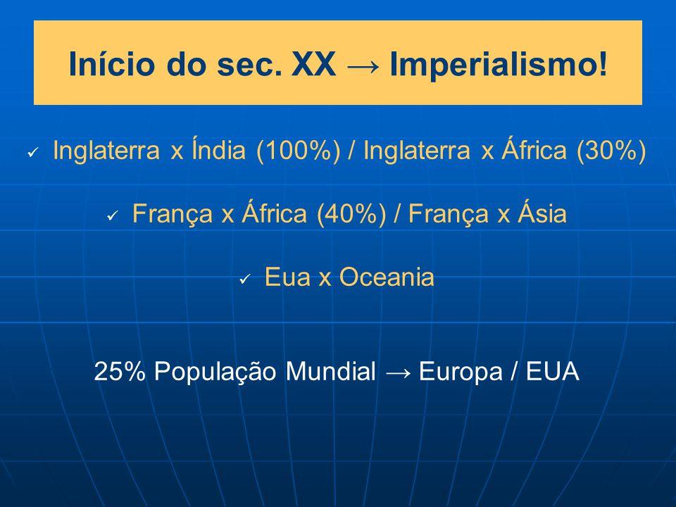 Início do sec. XX → Imperialismo!