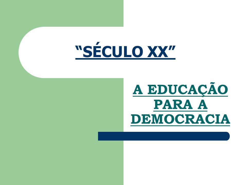 A EDUCAÇÃO PARA A DEMOCRACIA