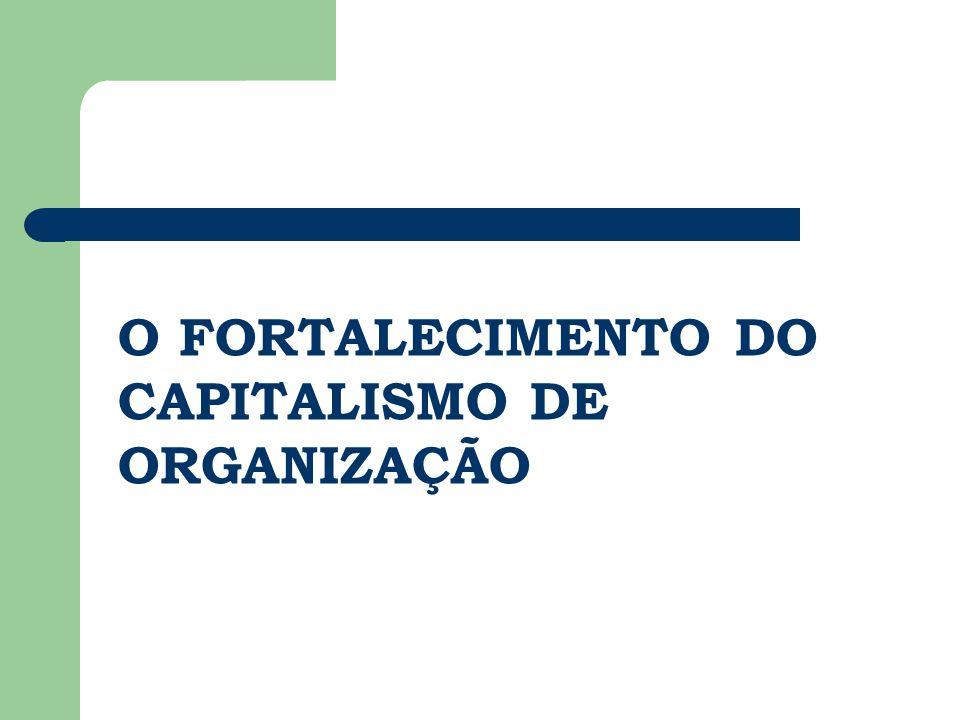 O FORTALECIMENTO DO CAPITALISMO DE ORGANIZAÇÃO