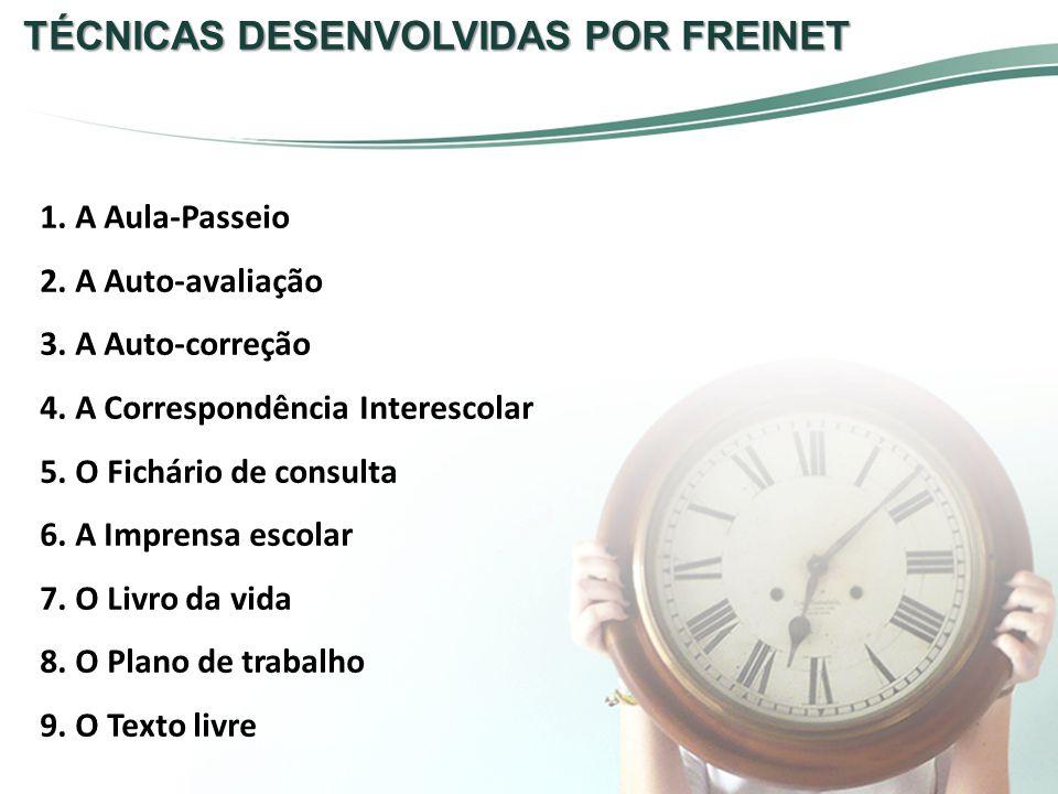 TÉCNICAS DESENVOLVIDAS POR FREINET