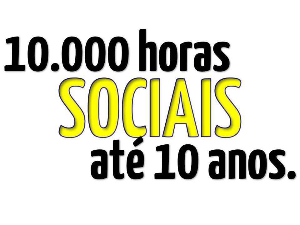 10.000 horas SOCIAIS até 10 anos.
