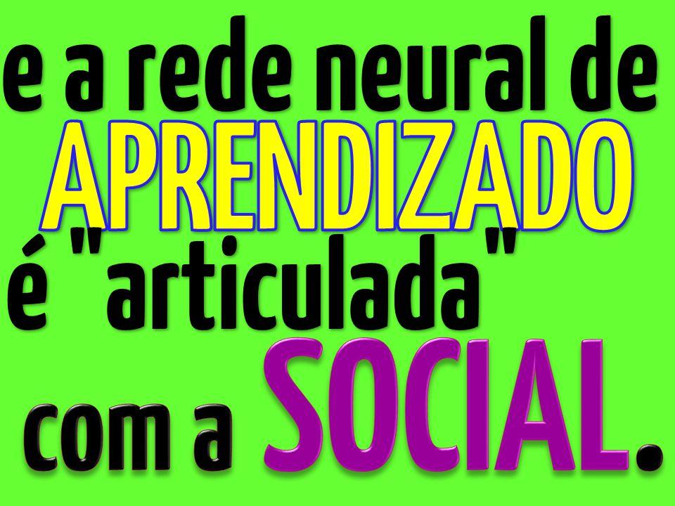 e a rede neural de APRENDIZADO é articulada com a SOCIAL.