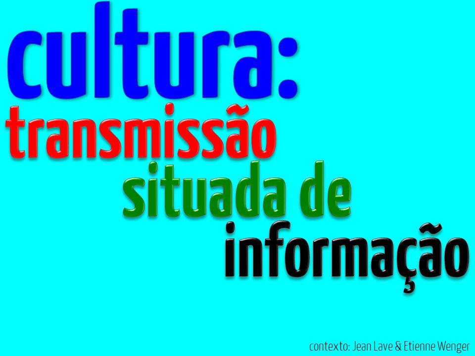 cultura: transmissão situada de informação