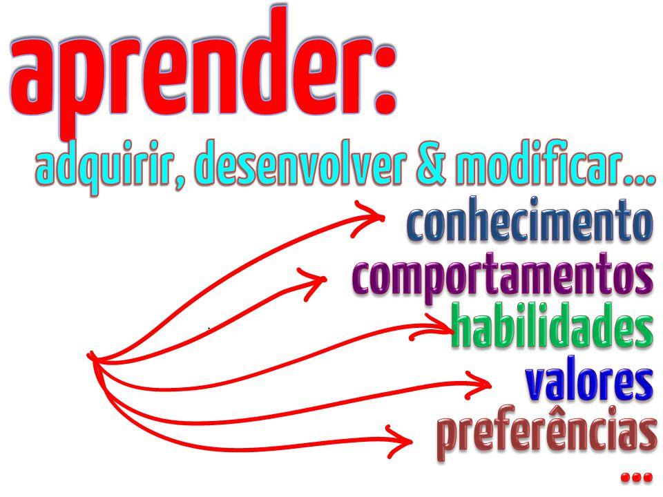 aprender: adquirir, desenvolver & modificar… conhecimento
