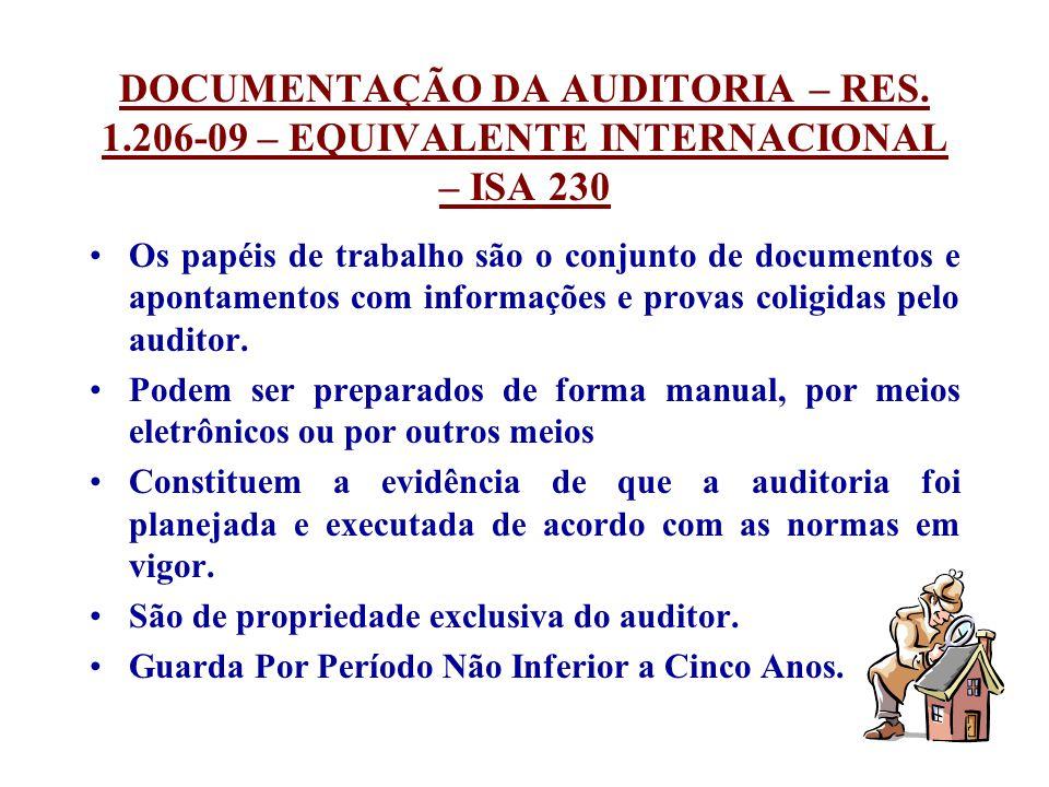 DOCUMENTAÇÃO DA AUDITORIA – RES. 1