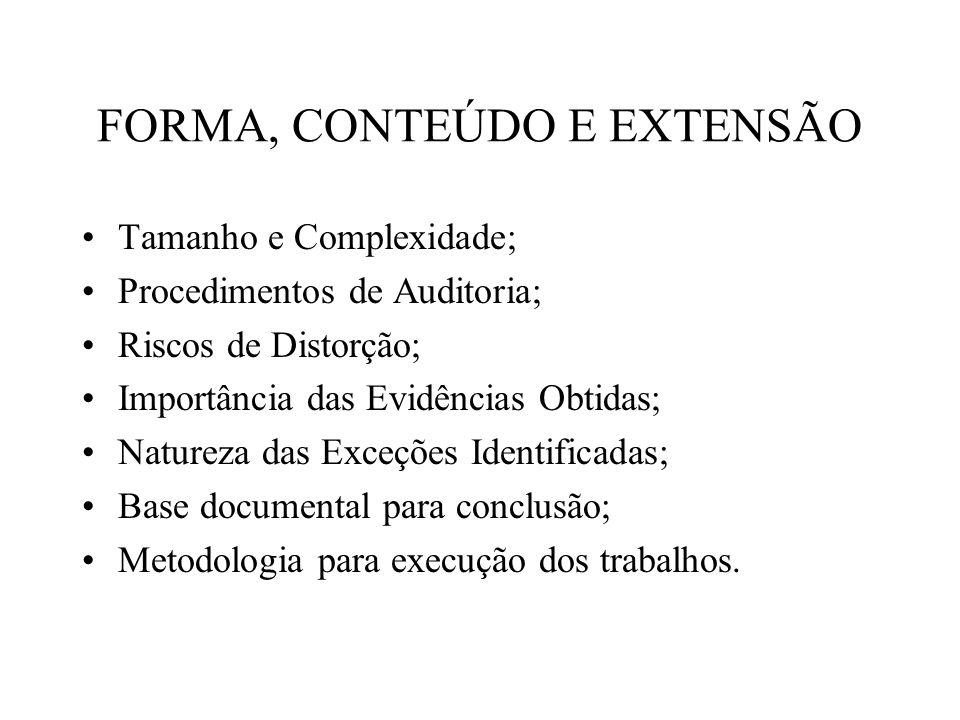 FORMA, CONTEÚDO E EXTENSÃO