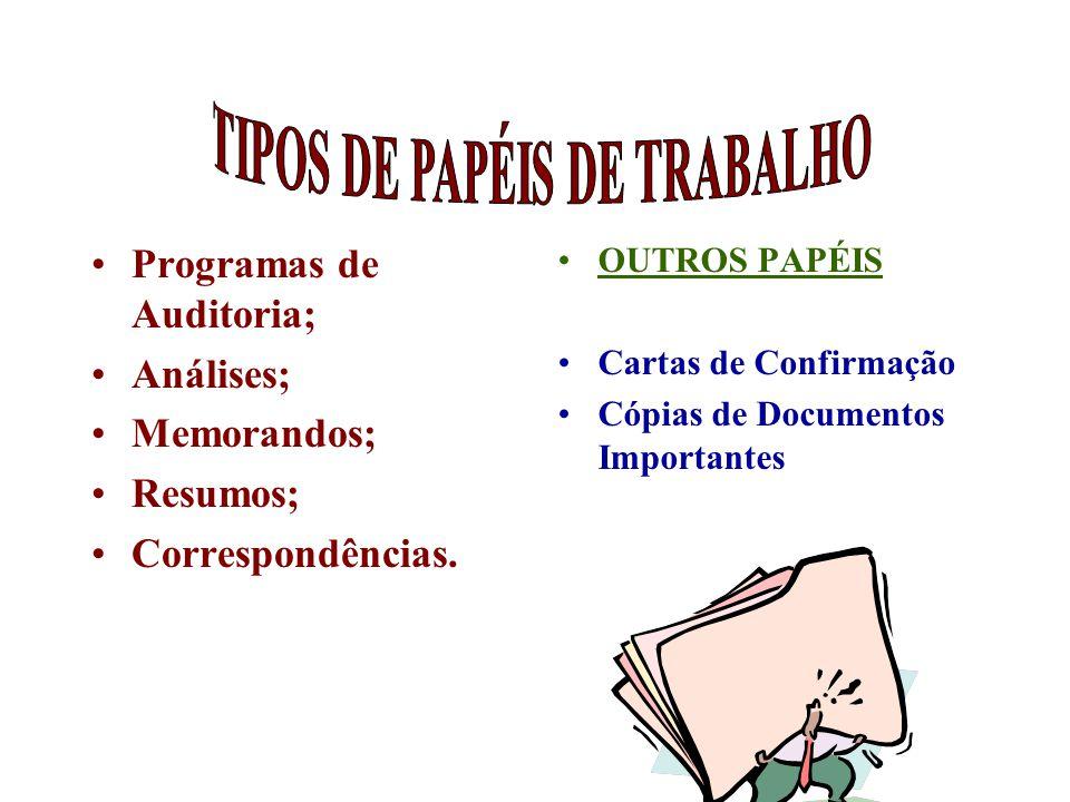 TIPOS DE PAPÉIS DE TRABALHO
