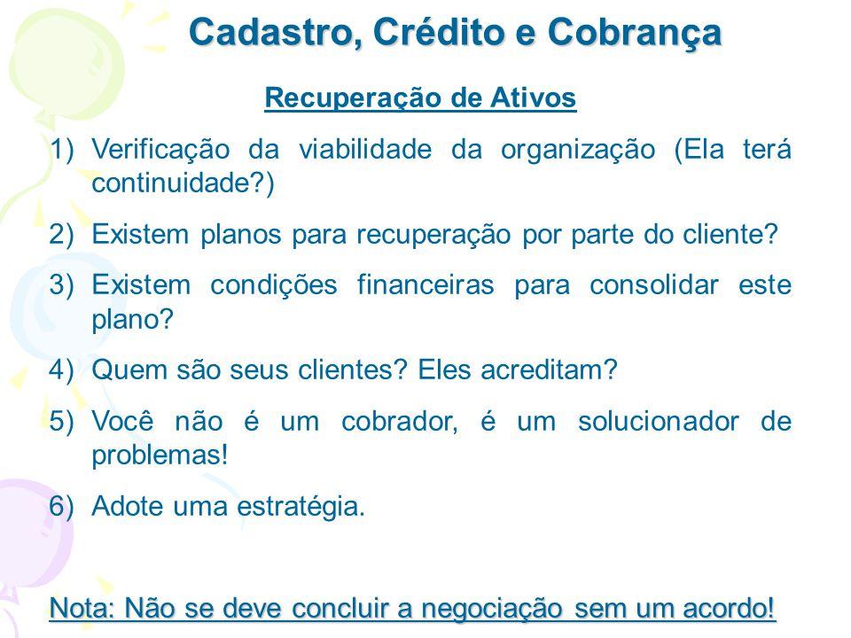 Cadastro, Crédito e Cobrança