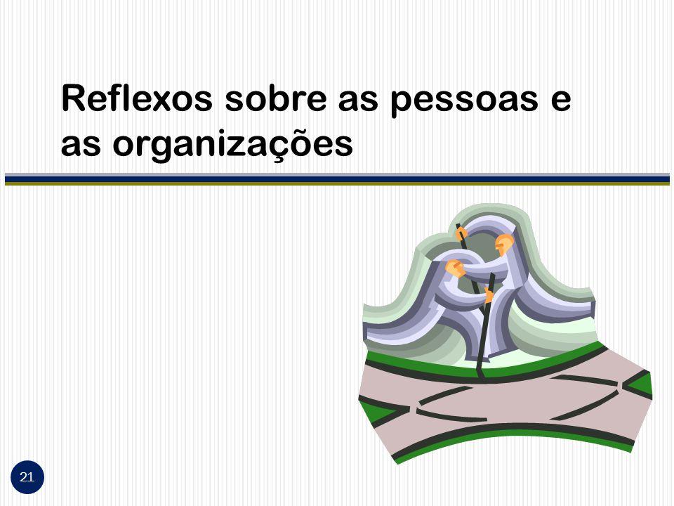 Reflexos sobre as pessoas e as organizações