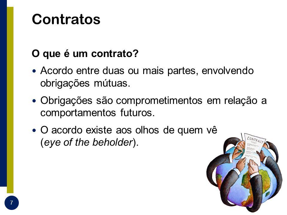Contratos O que é um contrato