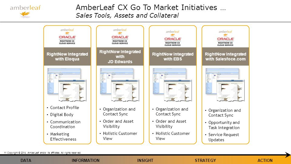 AmberLeaf CX Go To Market Initiatives … Sales Tools, Assets and Collateral