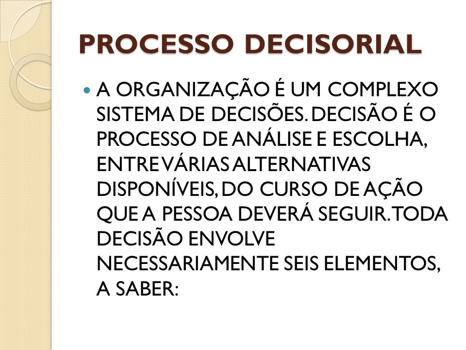Processo decisorial