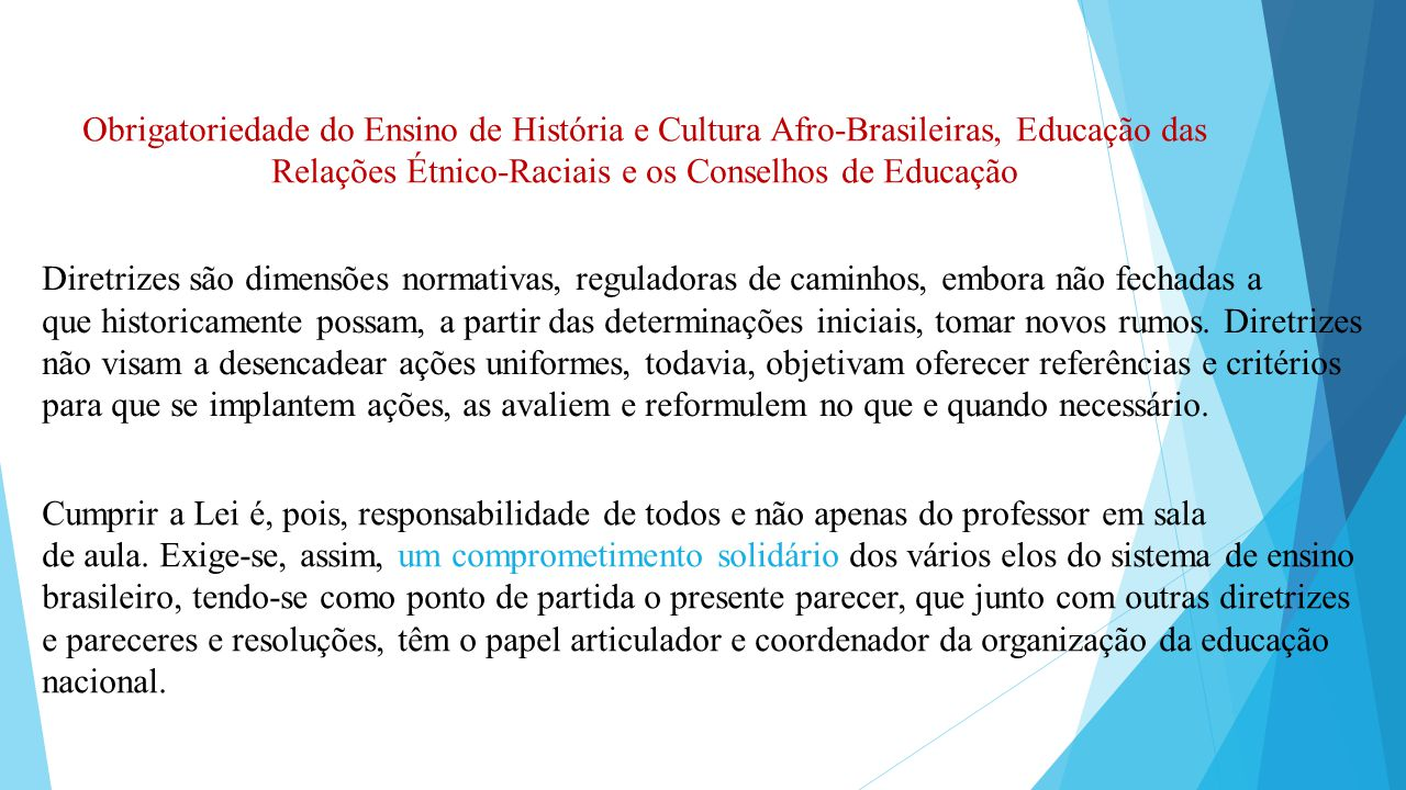 Relações Étnico-Raciais e os Conselhos de Educação
