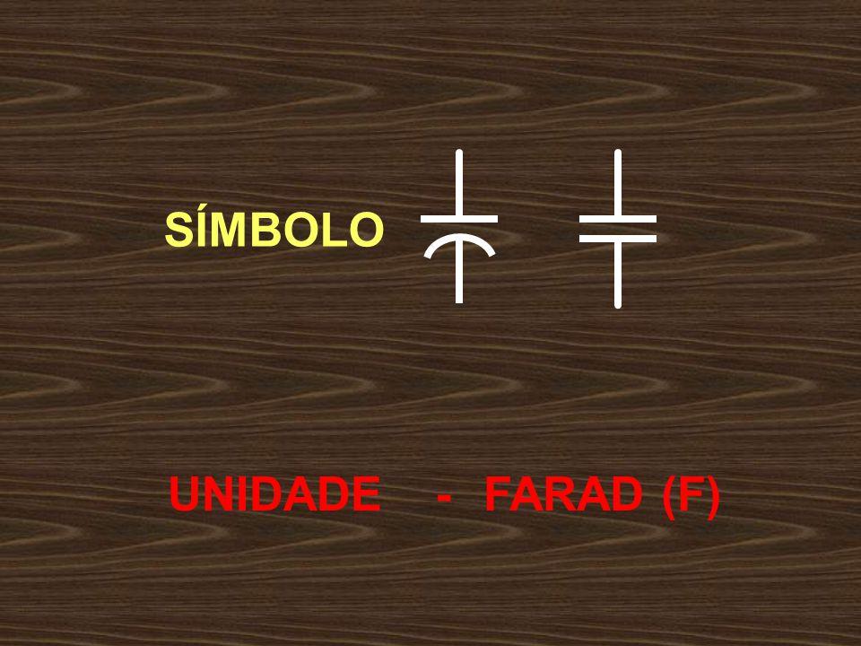 SÍMBOLO UNIDADE - FARAD (F)