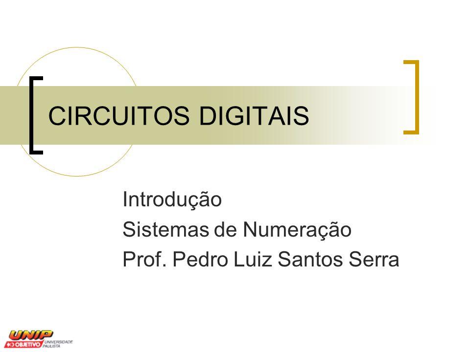 Introdução Sistemas de Numeração Prof. Pedro Luiz Santos Serra