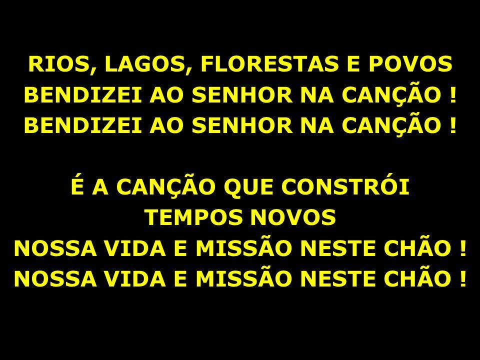 RIOS, LAGOS, FLORESTAS E POVOS BENDIZEI AO SENHOR NA CANÇÃO !