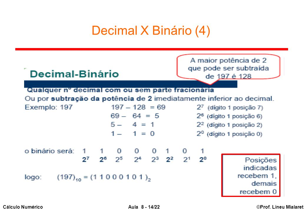 Decimal X Binário (4)