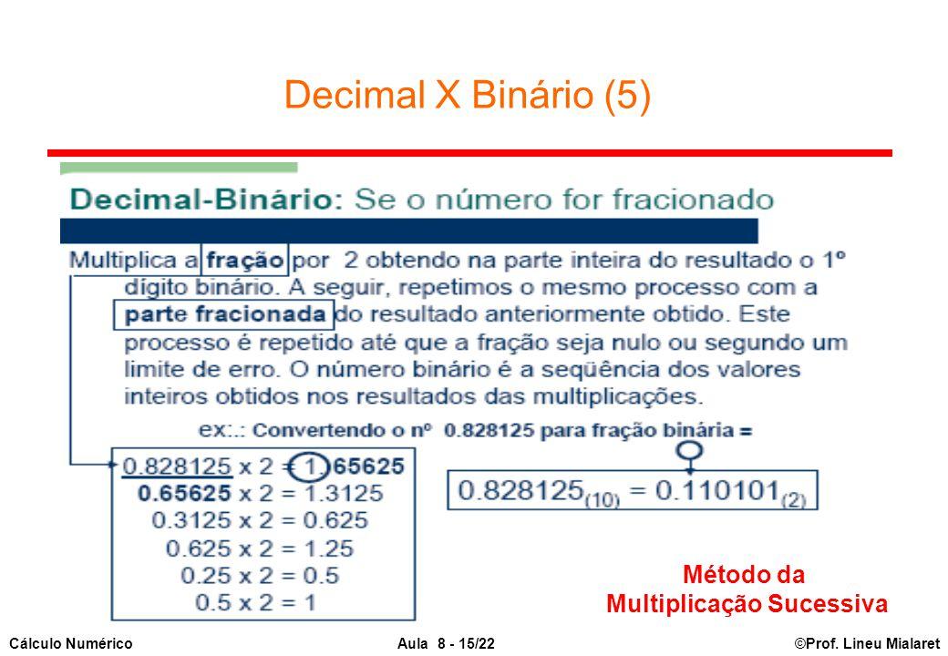 Multiplicação Sucessiva