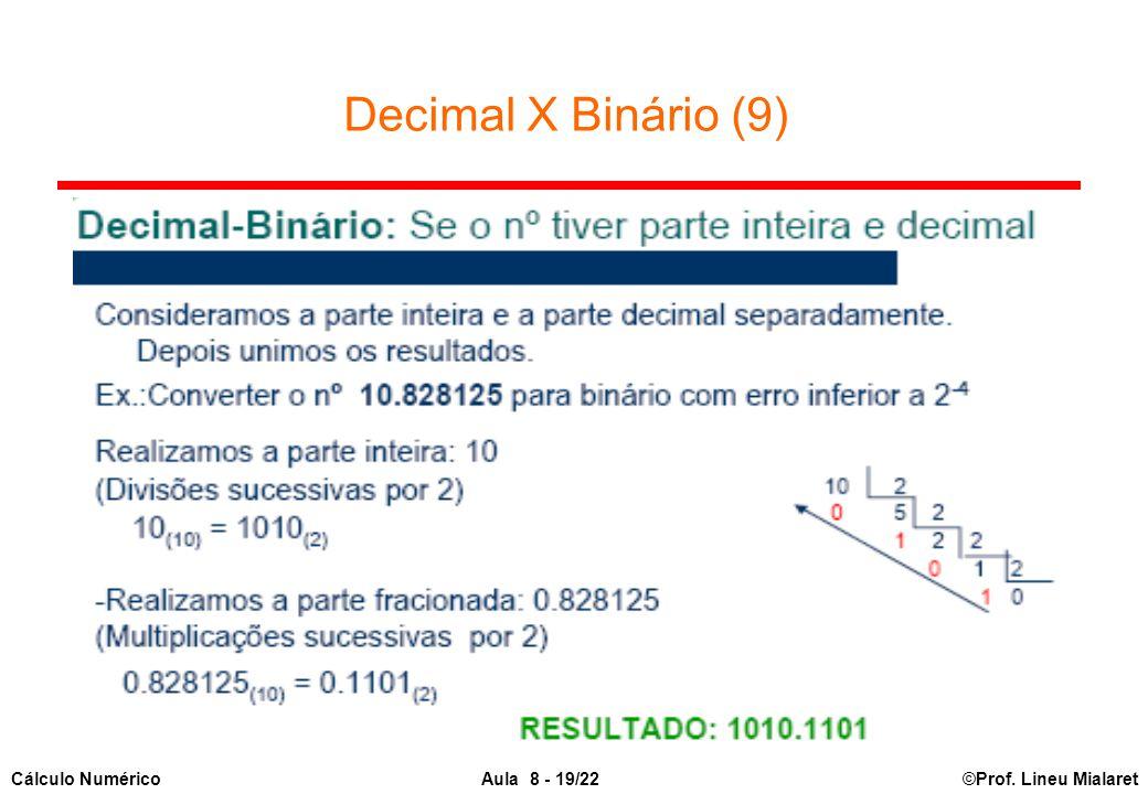 Decimal X Binário (9)
