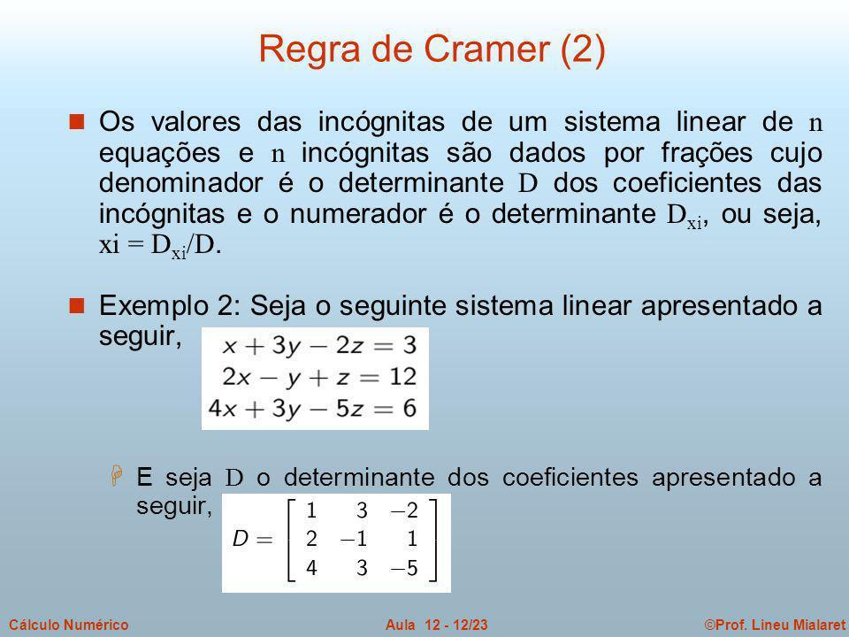 Regra de Cramer (2)