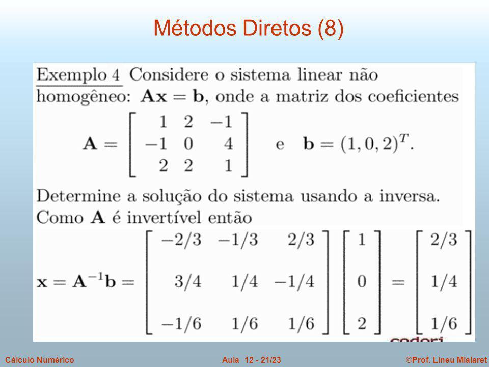 Métodos Diretos (8)
