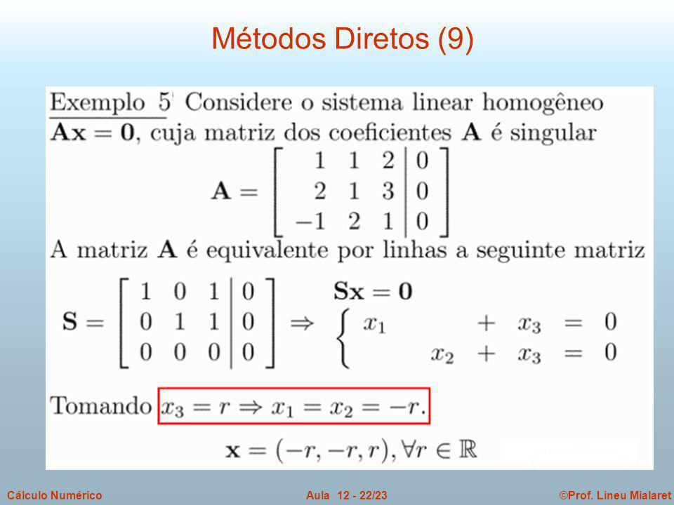 Métodos Diretos (9)