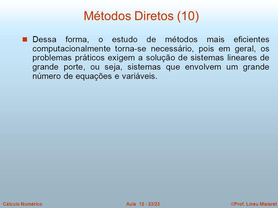 Métodos Diretos (10)