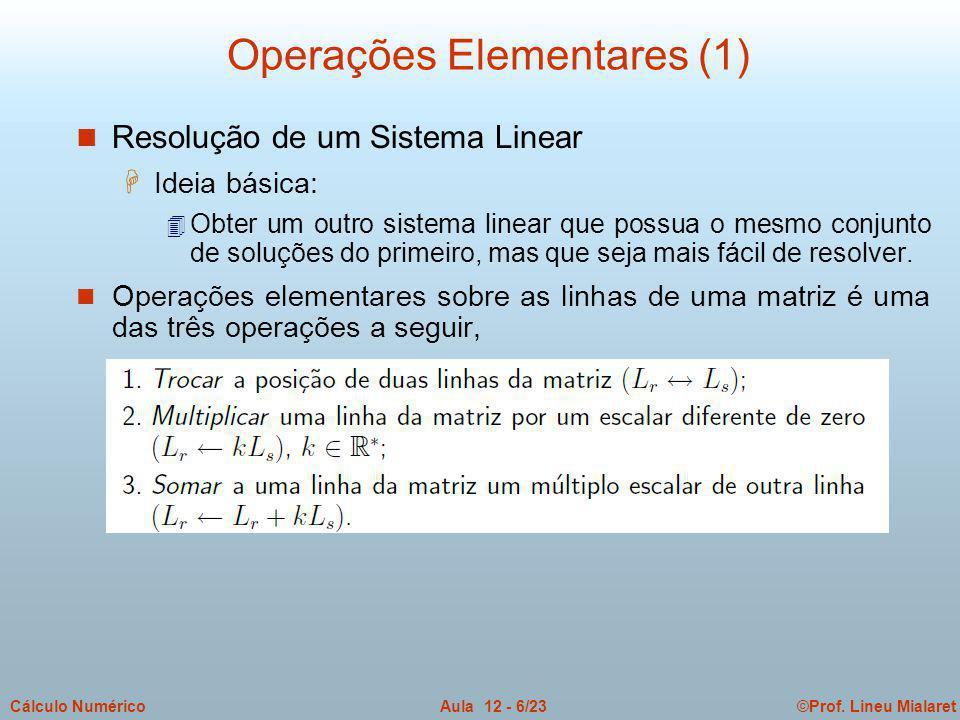 Operações Elementares (1)