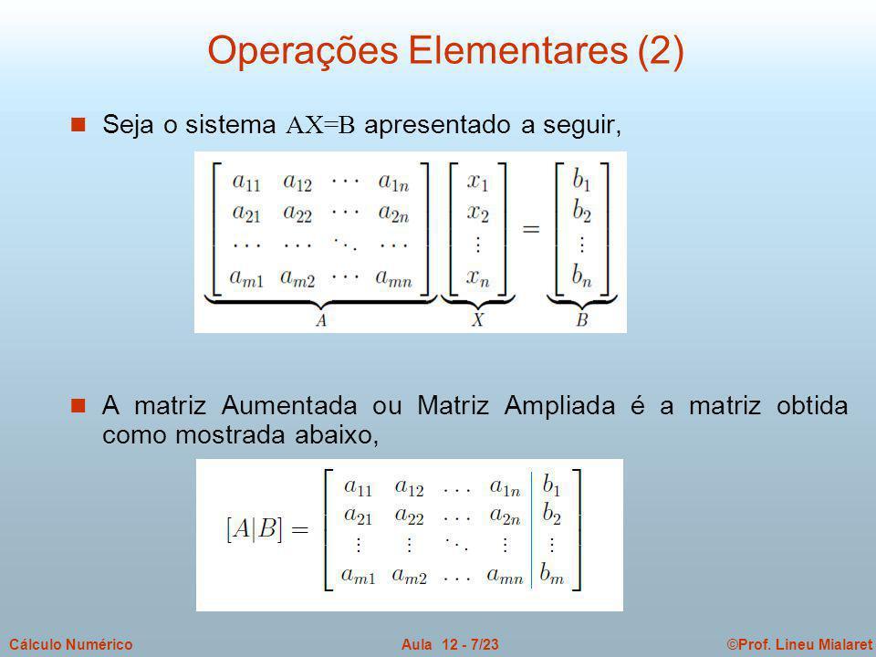 Operações Elementares (2)