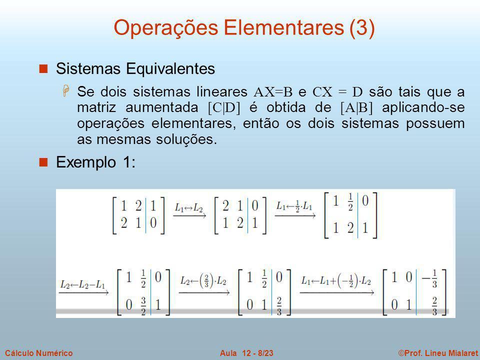Operações Elementares (3)