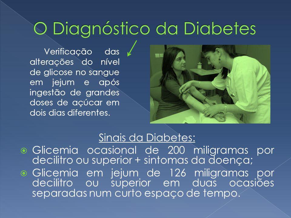 O Diagnóstico da Diabetes