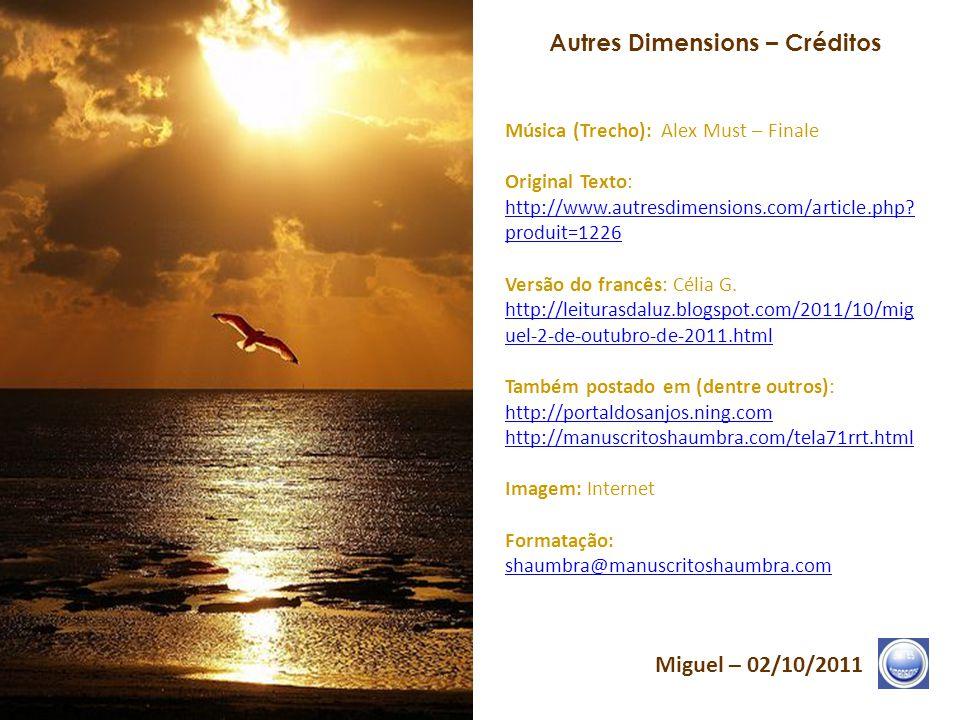 Autres Dimensions – Créditos