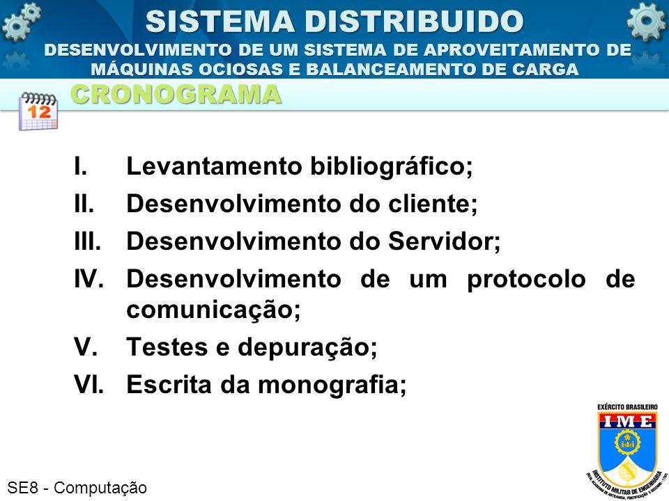 SISTEMA DISTRIBUIDO DESENVOLVIMENTO DE UM SISTEMA DE APROVEITAMENTO DE MÁQUINAS OCIOSAS E BALANCEAMENTO DE CARGA