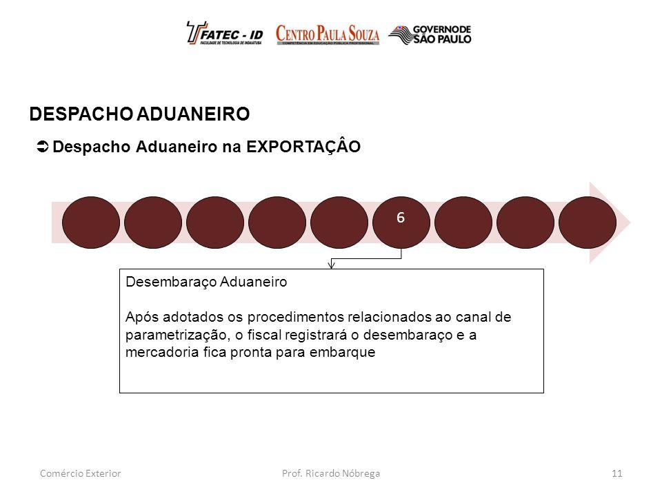 DESPACHO ADUANEIRO Despacho Aduaneiro na EXPORTAÇÂO 6