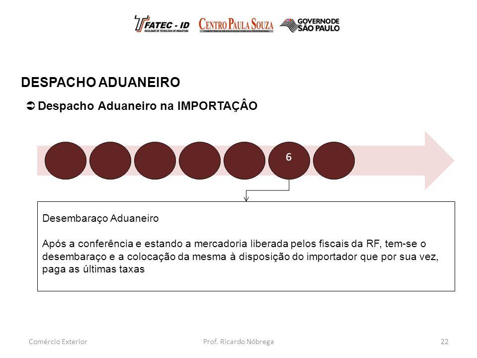 DESPACHO ADUANEIRO Despacho Aduaneiro na IMPORTAÇÂO 6