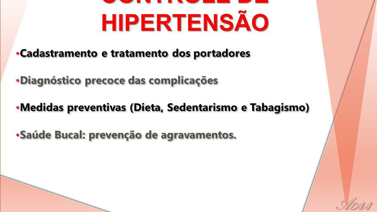 CONTROLE DE HIPERTENSÃO