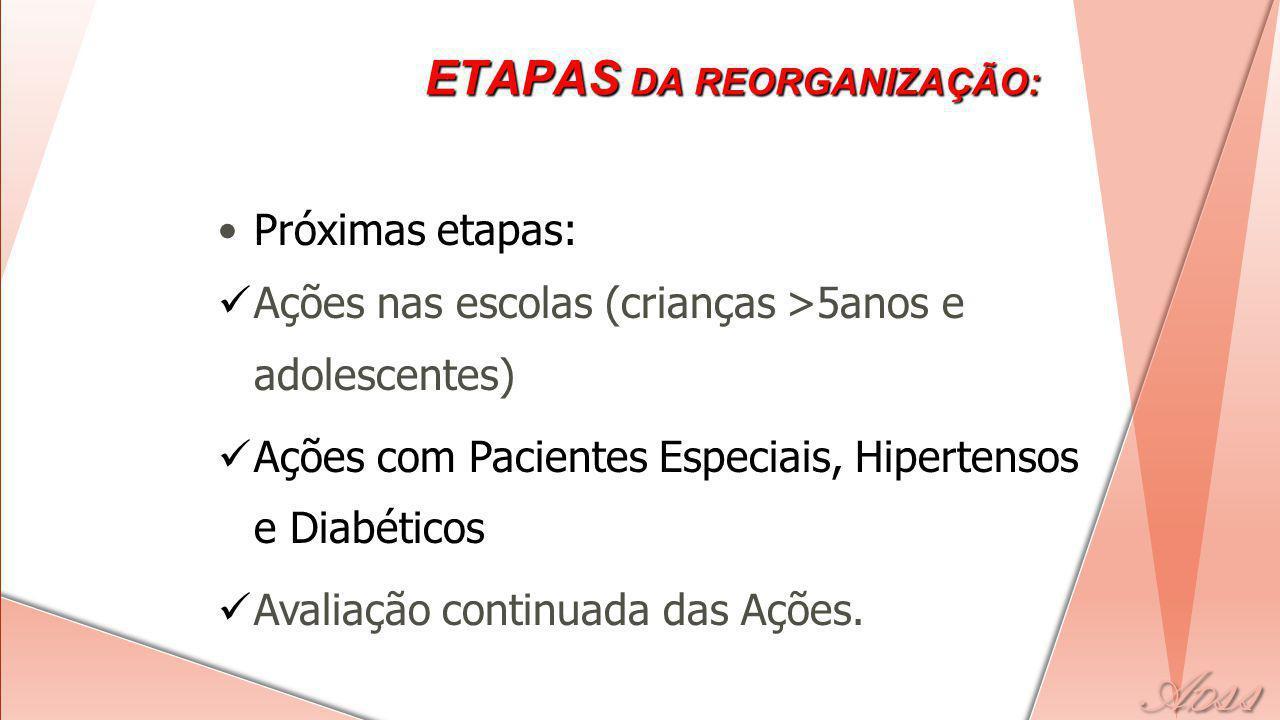 ETAPAS DA REORGANIZAÇÃO: