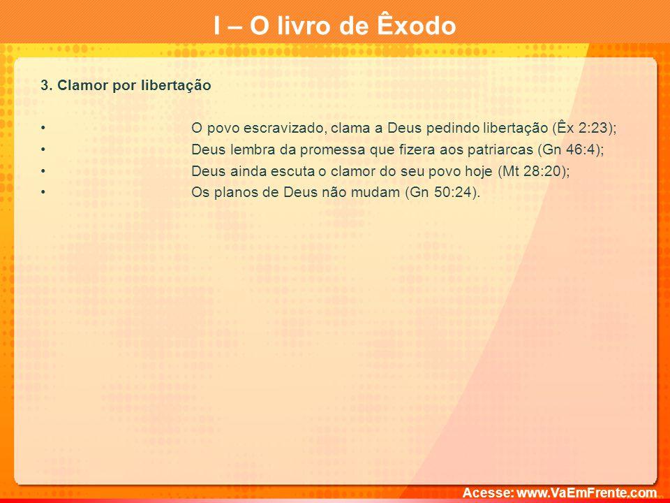 I – O livro de Êxodo 3. Clamor por libertação