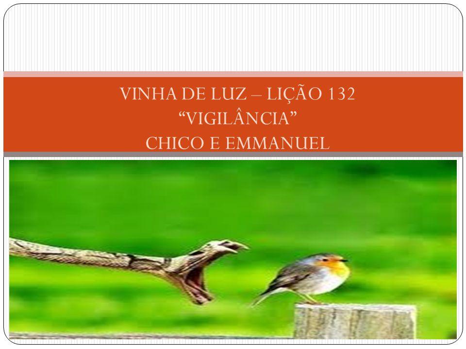 VINHA DE LUZ – LIÇÃO 132 VIGILÂNCIA CHICO E EMMANUEL