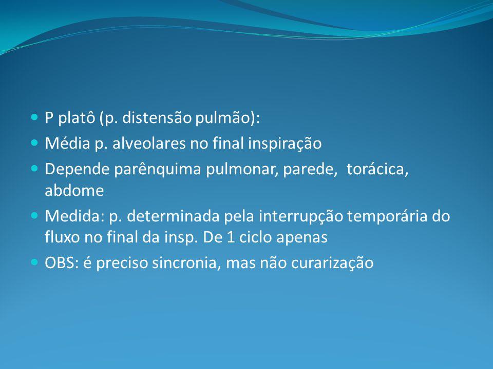 P platô (p. distensão pulmão):