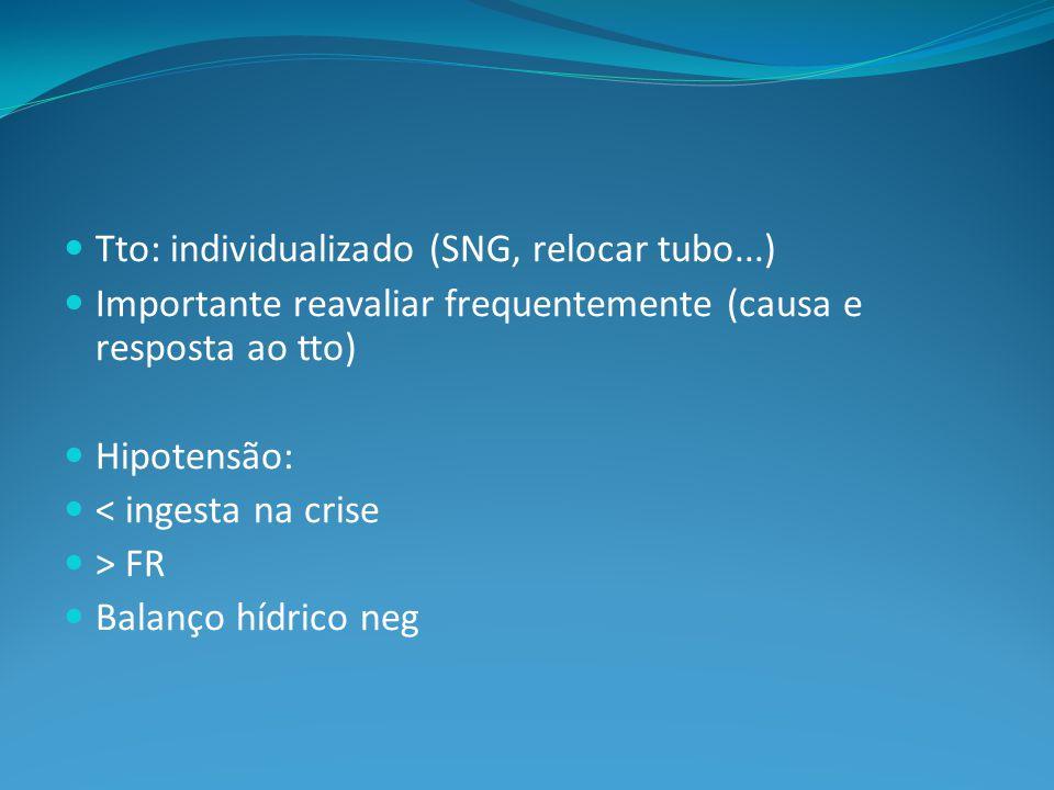 Tto: individualizado (SNG, relocar tubo...)