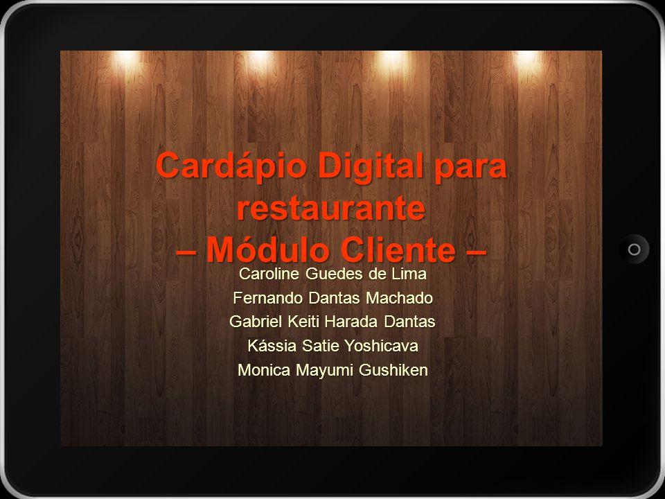 Cardápio Digital para restaurante – Módulo Cliente –