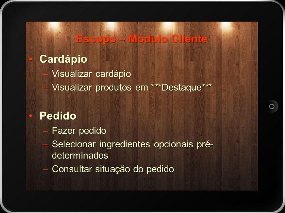 Escopo – Módulo Cliente