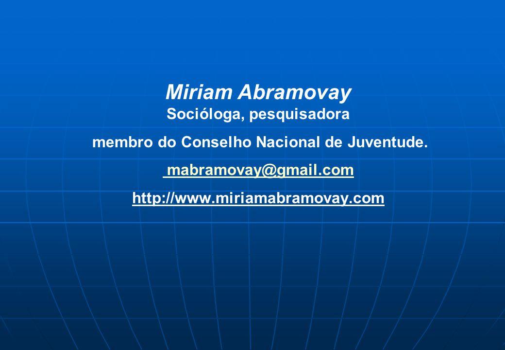 Socióloga, pesquisadora membro do Conselho Nacional de Juventude.