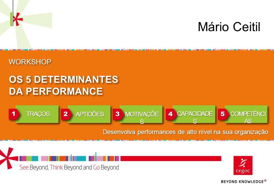 Mário Ceitil OS 5 DETERMINANTES DA PERFORMANCE WORKSHOP 1 2 3 4 5