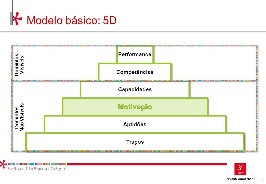 Modelo básico: 5D Motivação Performance Competências Capacidades