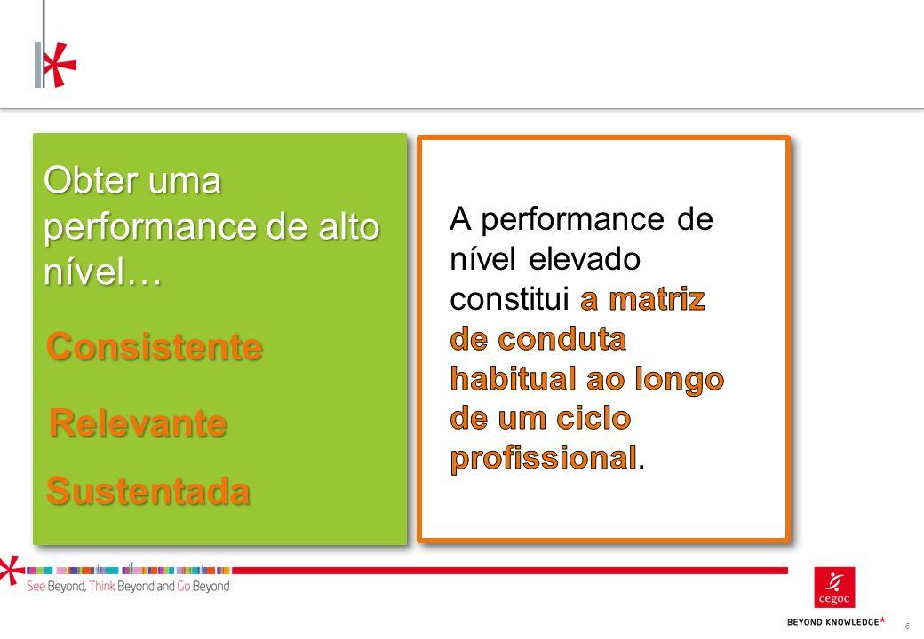 Obter uma performance de alto nível…